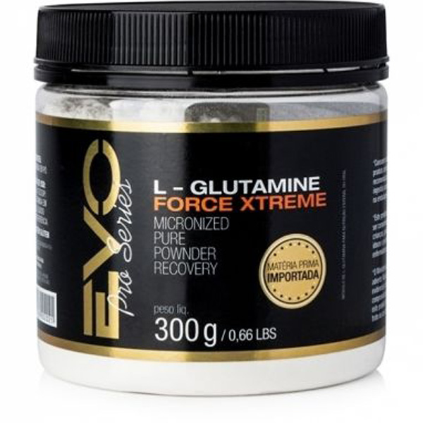 L-Glutamine Force X-Treme - Glutamina Pura EVO Nutrition - 300gr