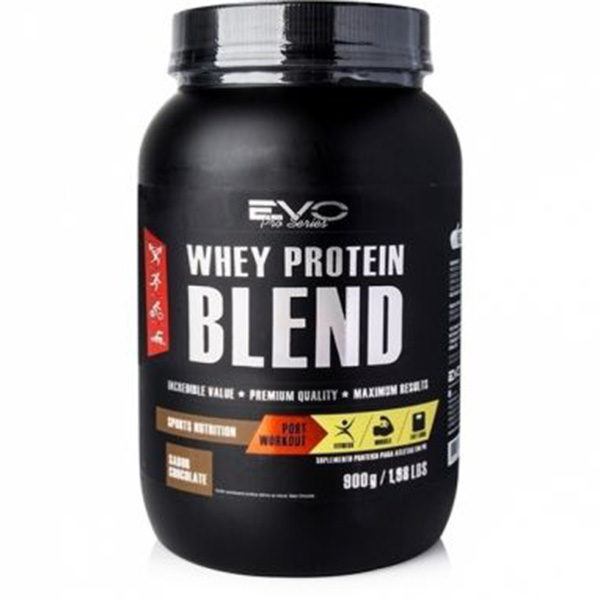 Whey Protein 3W Concentrado+ISO+SPI - EVO Nutrition Blend - 900gr - Chocolate