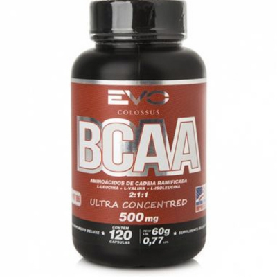 BCAA 2000 Ultra Concentrado 500mg - Evo Nutrition 2:1:1 120caps