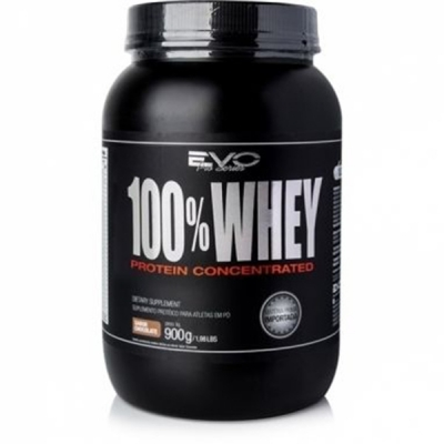 Whey Protein 100% Concentrado EVO Nutrition - Chocolate 900gr